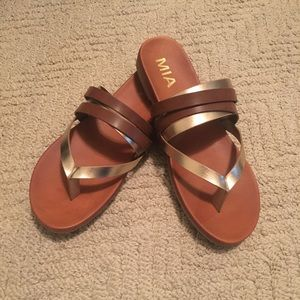 """MIA """"Flow"""" Two Toned Sandals"""